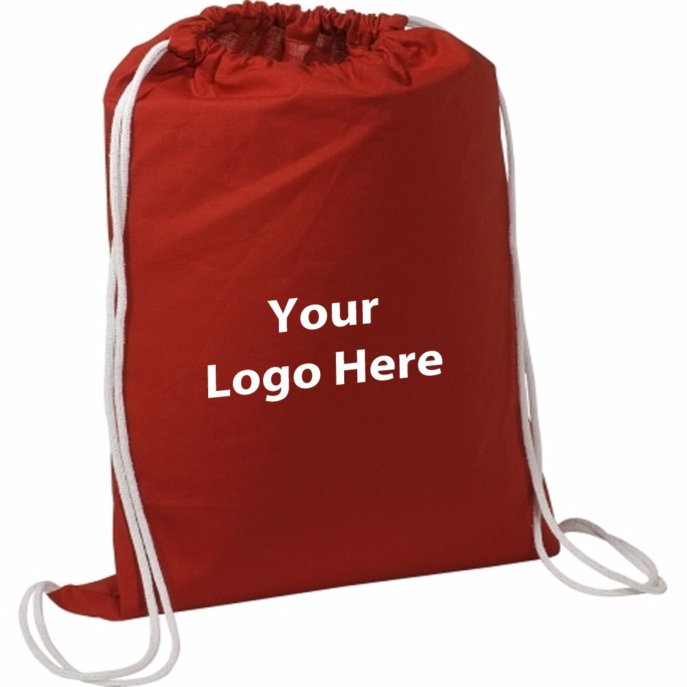 Cotton String A Sling Backpack - 50 Quantity - $3.69 Each - PROMOTIONAL PRODUCT / BULK / Branded with YOUR LOGO / CUSTOMIZED by Sunrise Identity