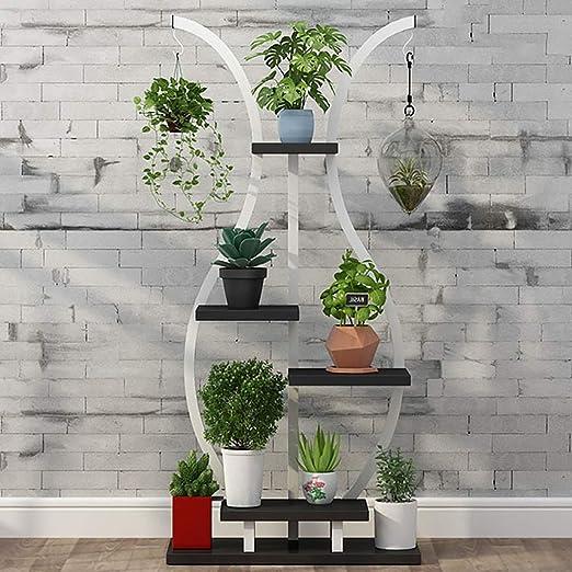 Puesto de plantas Soporte de flores del piso del balcón, soporte ...