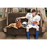 Deluxe Pet Cargo Protector, Quilted - Car Bench Seat Cover - MOCHA