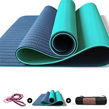 Amazon.com: DLJFU - Yoga mats Large Non-Slip Pilates Mat ...