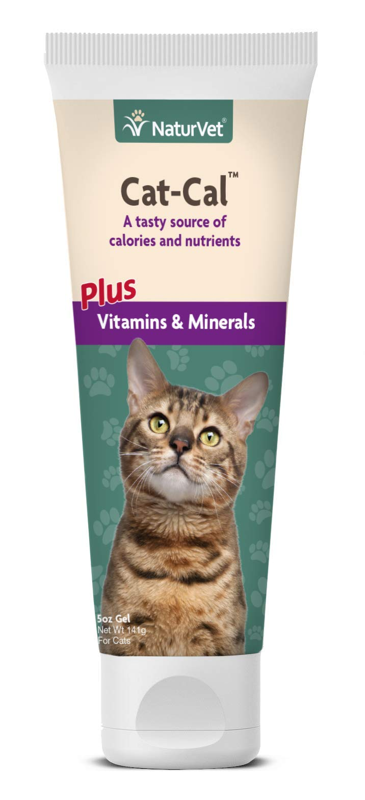 NaturVet - Cat-Cal Nutritional Gel For Cats Plus Vitamins & Minerals - 5 oz - High Energy Source of Calories & Plentiful in Protein - Enhanced with Omega-6 & Omega-3 Fatty Acids by NaturVet