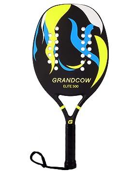 GRANDCOW - Pala de pádel de Tenis para Playa (Fibra de Carbono ...