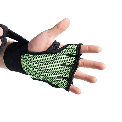 fitony entrenamiento Crossfit guantes de levantamiento de pesas WOD | antideslizante, sudor absorbente y fuerte