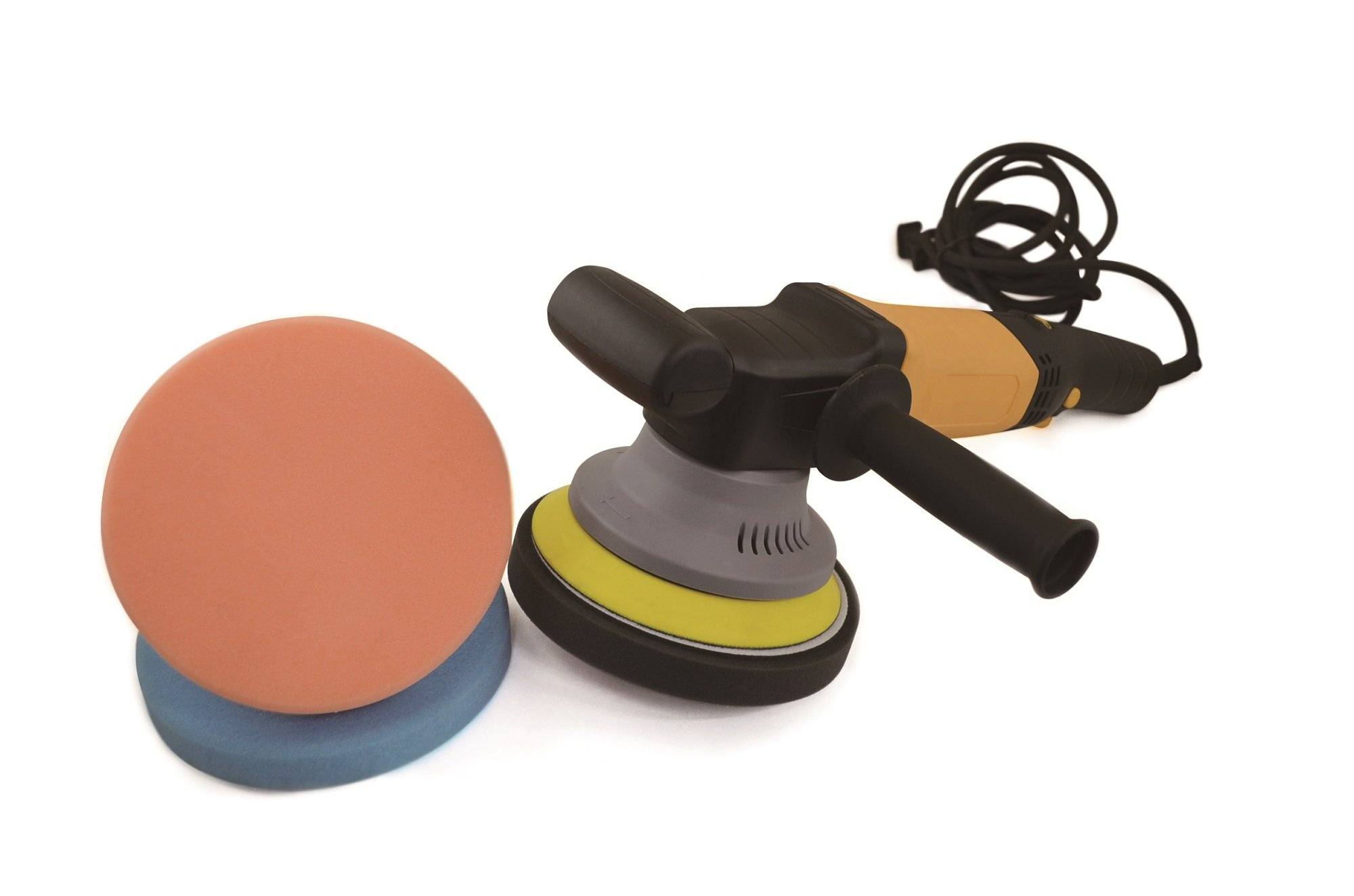 Astro 3058 Electric Dual Action Random Orbital Polisher with 3 Piece Pad Kit, 6''