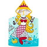 "MCGMITT Kids Beach Towel with Hood for Baby Girls Toddlers Children Under Age 6, 23"" x 24"" Soft Microfiber Hooded Bath Towels Multi-use for Shower, Swimming Pool, Travel, Camping, Picnic"
