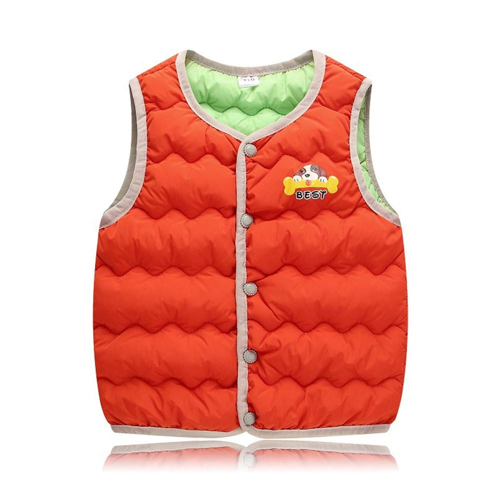 1-4 Years Girl Fall Vests Waistcoats Children's Outerwear Vest Winter Down Liner Vest Toddler Girls Winter Coats Vest,Red,3Y by W