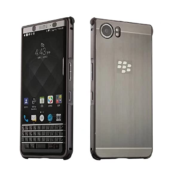 buy popular d9fc0 647d8 BlackBerry KEYone Case, Ranyi [Brushed Metal Series] Luxury Aluminum Metal  Bumper Detachable + Smooth Brushed Hard Back Cover [Slim & Thin] Case for  ...