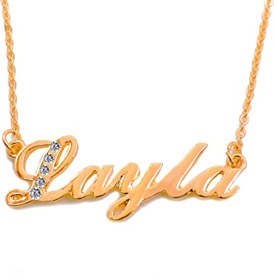 Name Necklace Maelle 18K Gold PlatedBridesmaid Unique Valentines Birthday