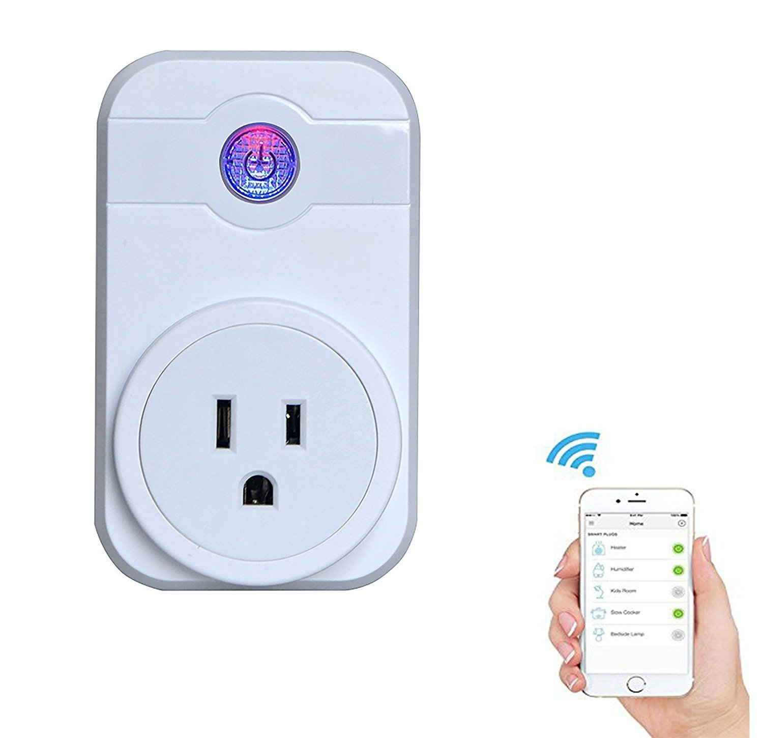 GOSTAR Smart WiFI Plug Wireless Timer Socket Outlet Remote Control Electronics for Household Appliances Work with Amazon Echo Alexa Google Home