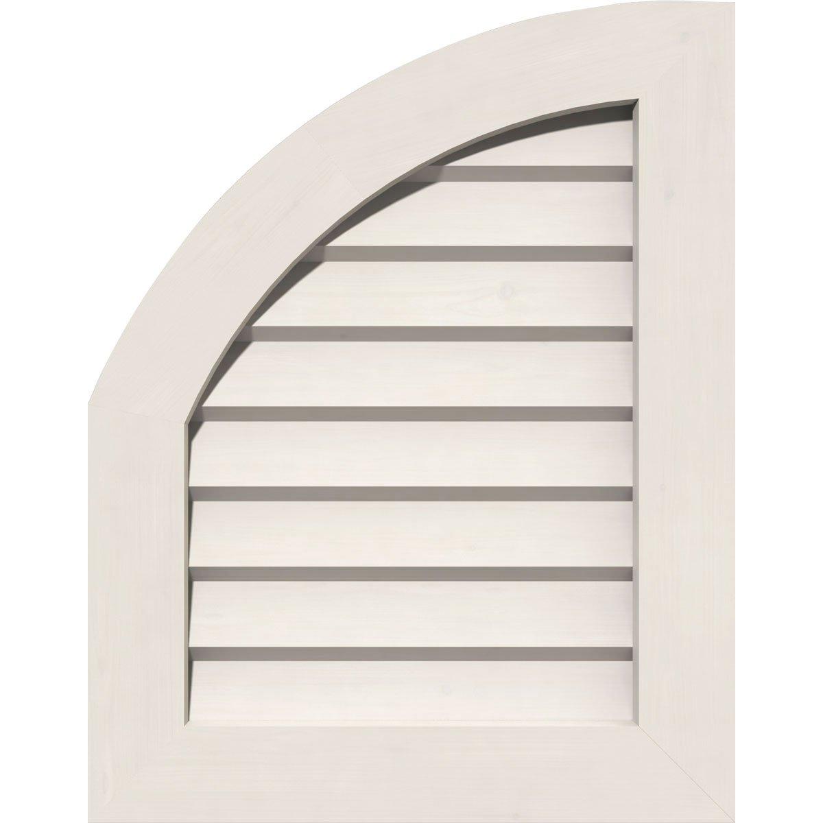 Ekena Millwork GVPQL12X1601DUN Pvc Gable Vent, 12'' W x 16'' H (17'' W x 21'' H Frame Size), White