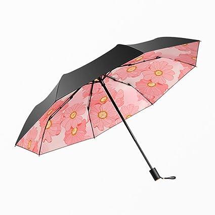 Diseño plegable anti-viento lluvia antiadherente paraguas seco sombrillas UV diseño de tormenta anti-