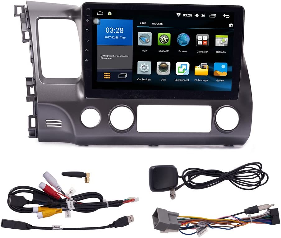 Android 9.1 Autoradio Car Navigation Stereo Multimedia Player GPS Radio 2.5D IPS Touch Screen for Honda Civic 2004-2011
