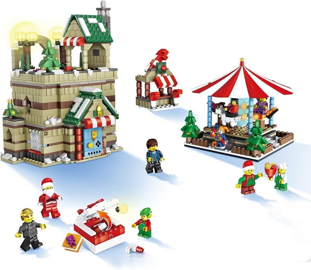 MyEstore Juguetes de la Inteligencia Gran JJR/C 1003 1595 en el Bricolaje 1 Feliz Navidad-go-Round módulos previstos, EN71 / 7P Certificado