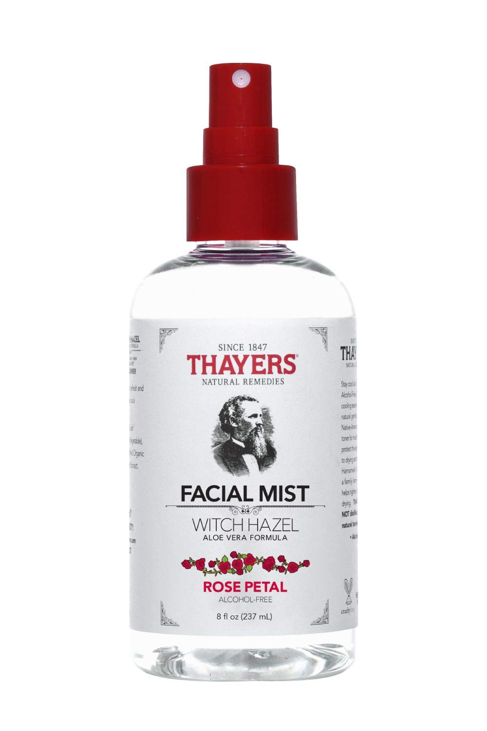 Thayers Natural Remedies Alcohol-Free Rose Petal Witch Hazel Facial Mist Toner, 8 Ounce by THAYERS