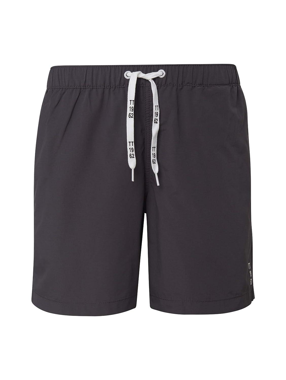 TOM TAILOR f/ür M/änner Beachwear//Bademode Schlichte Schwimm-Shorts