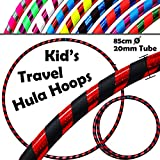 KID's HULA HOOPS - Quality Weighted Children's Hula Hoops! Great For Exercise, Dance, Fitness & FUN! NO Instructions needed! Same Day Dispatch! (Black / Red Glitter)