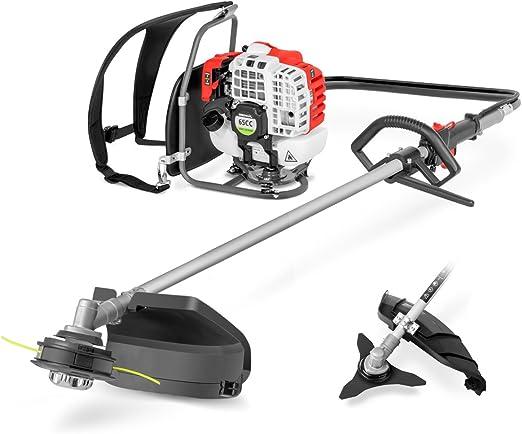 Greencut GM650XB-2 GM650XB-2-Desbrozadora de mochila 65cc 2-en-1 con Cabezal hilo, Disco y Arnes, Rojo: Amazon.es: Bricolaje y herramientas
