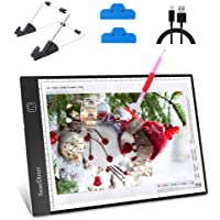 SanerDirect Diamond Painting A4 LED Light Pad - Dimmable Tracing Light Board Kit, Apply to Animation, Drawing with…