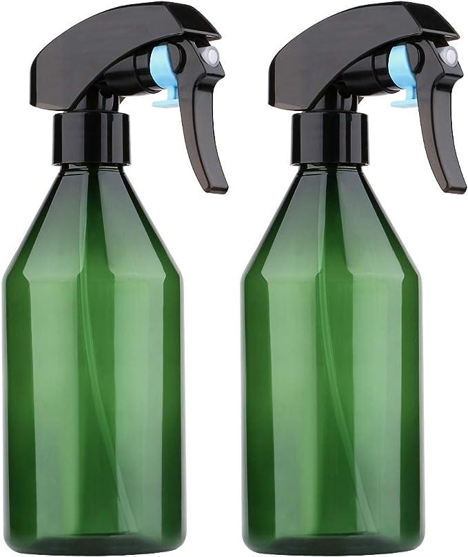 Black MEACOLIA 10oz//300ml Plastic Empty Spray Bottle Plant Mister Fine Mist Trigger Water Spray Bottles for Hair Cleaning Gardening Pack of 4