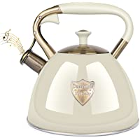 Tea Kettle Stove Top 3.17Quart Modern Whistling Tea Kettle-Surgical 5 Layer Stainless Steel Teakettle Teapot with Cool…