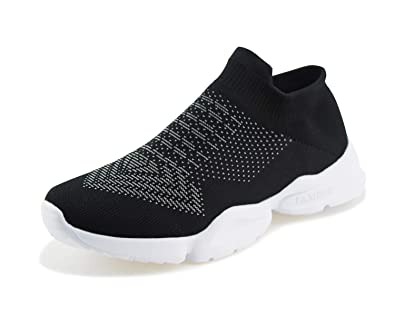 f9810ad78b4d Jabasic Women Breathable Athletic Knit Shoes Casual Slip On Walking Sneakers (5