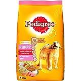 Pedigree Puppy Dry Dog Food, Chicken and Milk, 3kg Pack