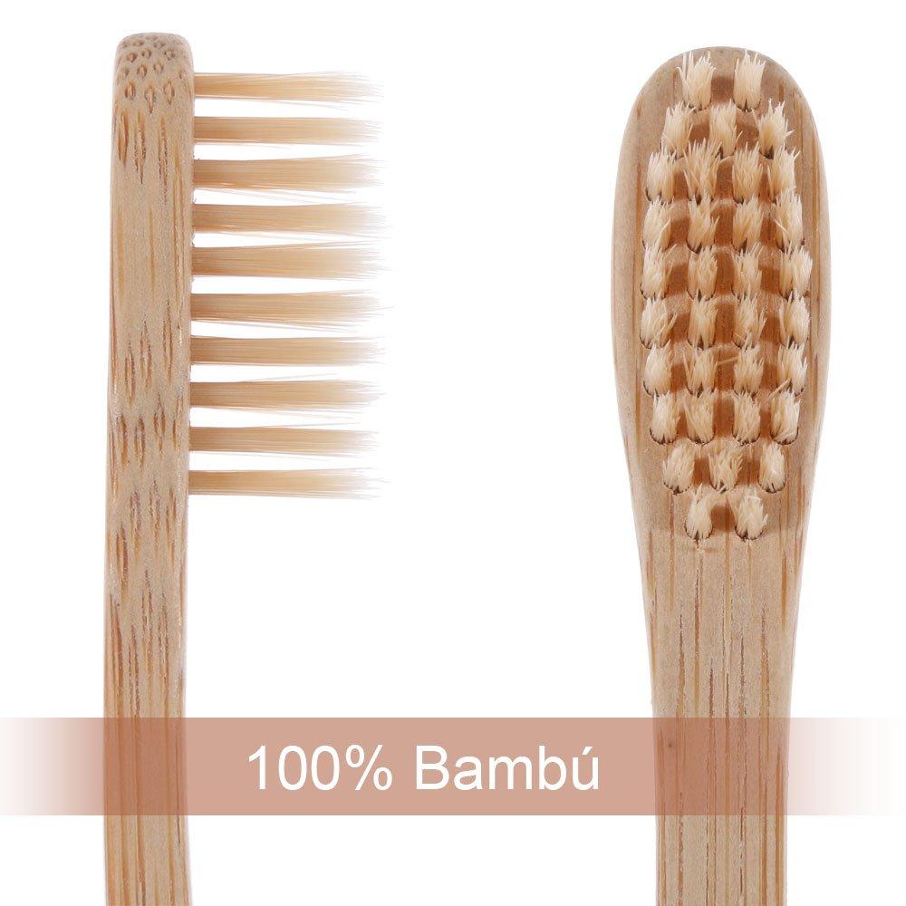 Lictin 6Pcs Cepillo de dientes madera de bambú Cuidado dental natural   Amazon.es  Bebé e498aa8bce81