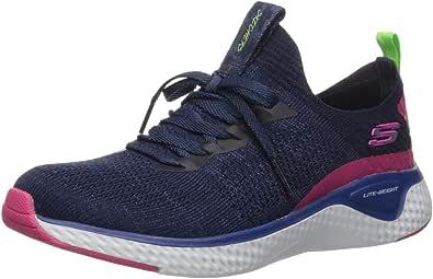 Skechers Women's Stretch Flat Knit Laced Slip Sneaker