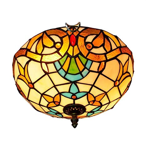 Techo de 12 pulgadas Lamp lámpara de techo (cristal tintado ...