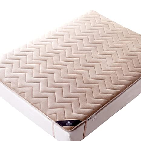 QFF Mattress Topper, Bedroom Hotel Mattress Topper Easy To Clean Colchón de Protección de Tamaño