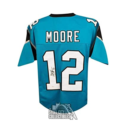70cc57159 Dj Moore Autographed Signed Carolina Panthers Custom Football Jersey  Memorabilia - JSA Authentic at Amazon's Sports Collectibles Store