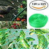 UPREDO 13Ft x 33Ft Anti Bird Protection Polyethylene Netting Barrier Garden Netting Plants Vegetables Fruit Seedlings Protect Netting