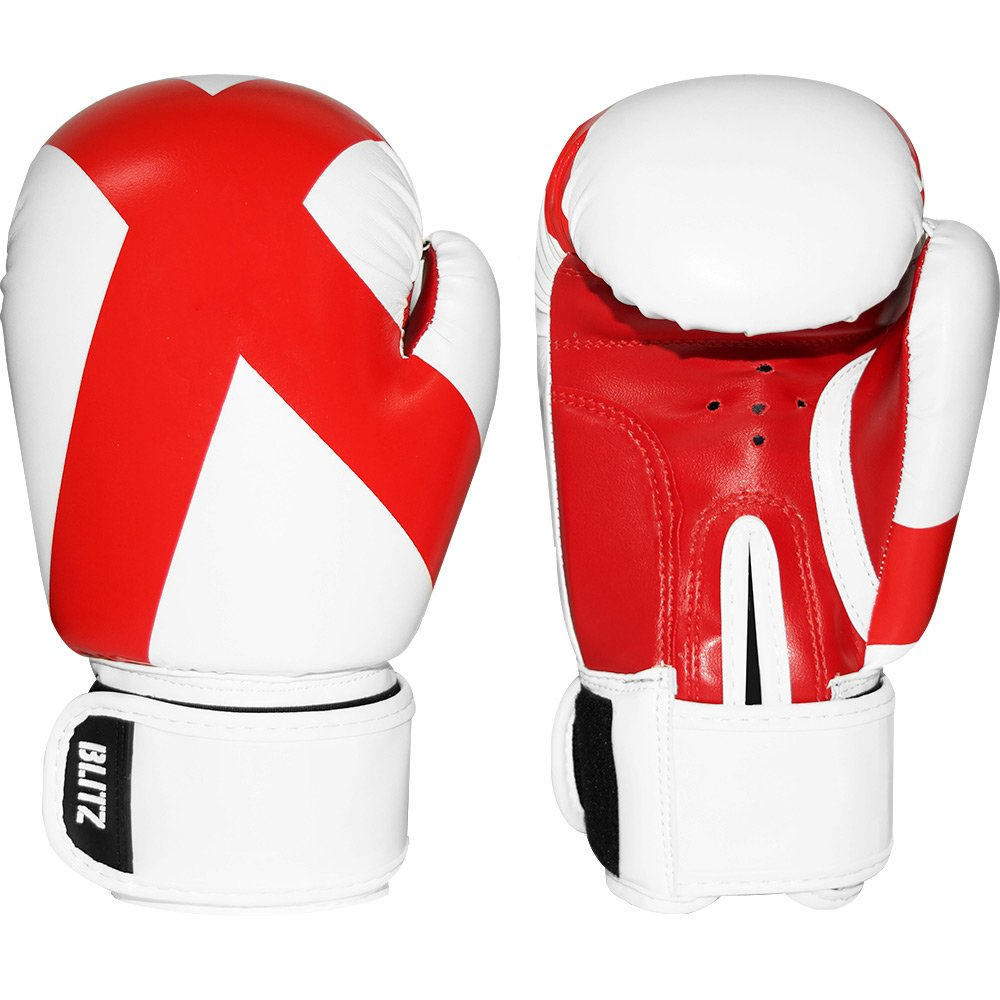 BLITZ KIDS CHILDS 6oz BOXING KICKBOXING THAI GLOVES BAG MITTS BOXERCISE SPARRING COLOUR ENGLAND FLAG LIMITED EDITION