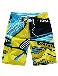 Aivtalk New Summer Breathable Beach Shorts Swimming Trunks Swimwear Boardshorts Beach Pants Size L Yellow