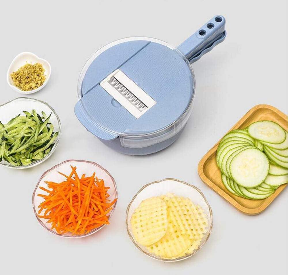 Grater Slicer Adjustable Vegetable Slicer Multi-Function Food Cutter Stainless Steel Blades with Egg Yolk Separator Colander Vegetable Choppers