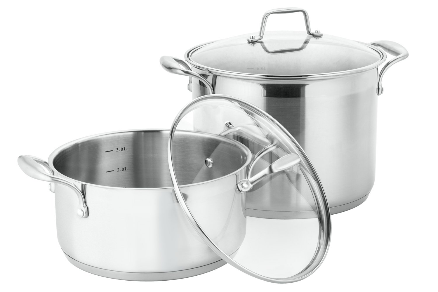 Galleon Chef S Star 17 Piece Pots Amp Pans Stainless Steel