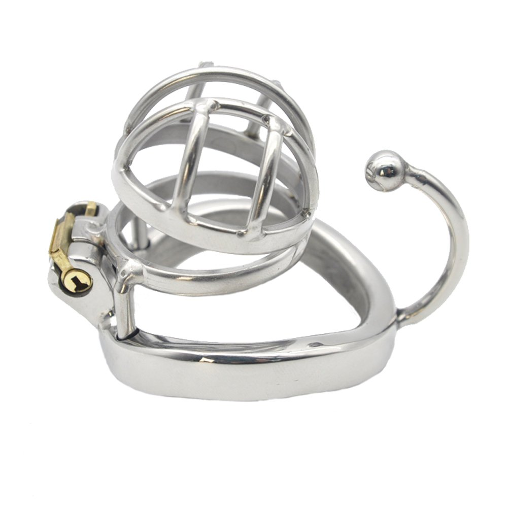 Yocitoy Stainless Steel Male Short Chasti-ty Device with Ring length 30mm G1-30 3 Size Rings