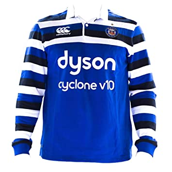 45a29cce710 Canterbury 2018-2019 Bath Home Classic LS Rugby Shirt: Amazon.co.uk ...