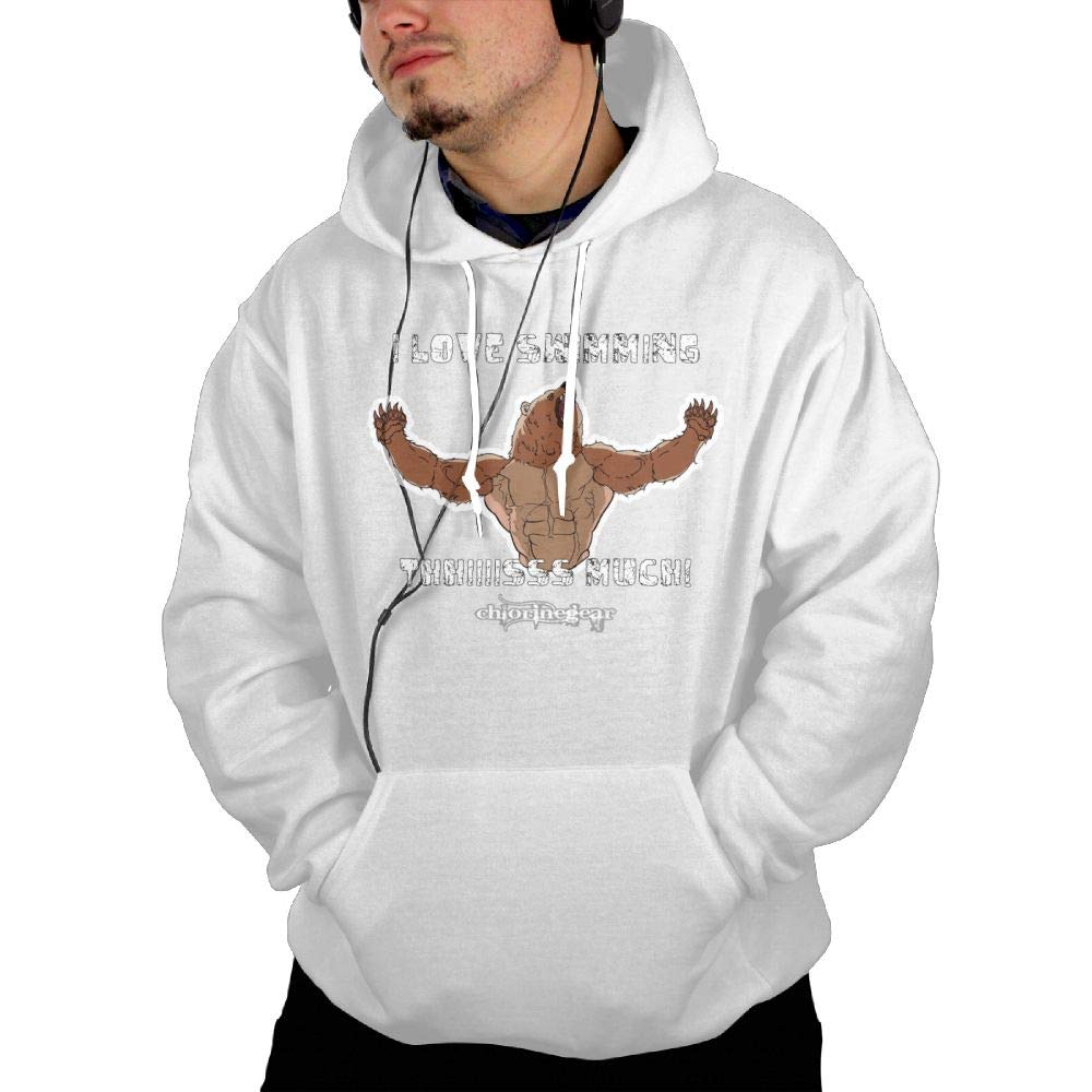 I Like Swimming This Much Sweatshirt Hoodie Pullover Pocket for Mens Comic