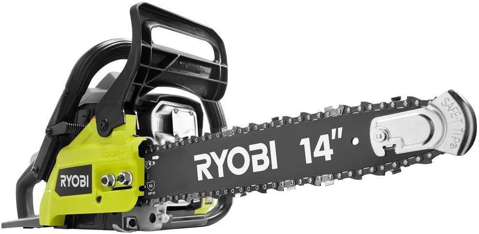 4. Ryobi 14 In. 37cc 2-Cycle Gas Chainsaw