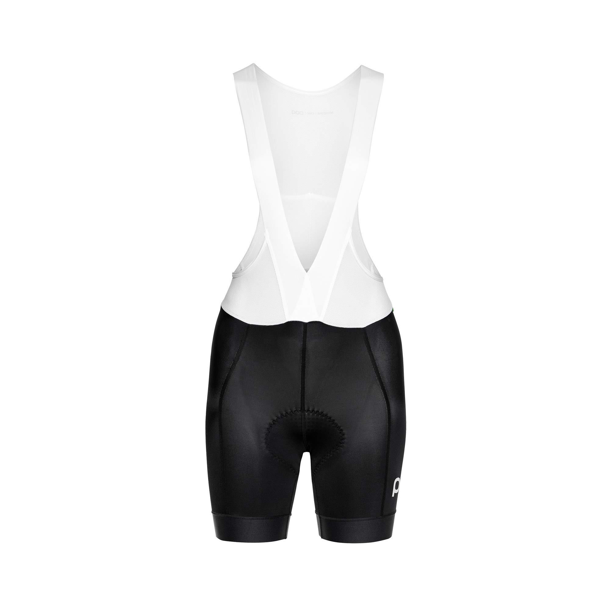 POC Essential Road Women Bib Shorts, Women's Cycling Apparel, Uranium Black, XS