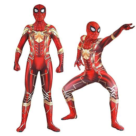 HEROMEN Versión De Acero del Traje De Cosplay De Spiderman ...