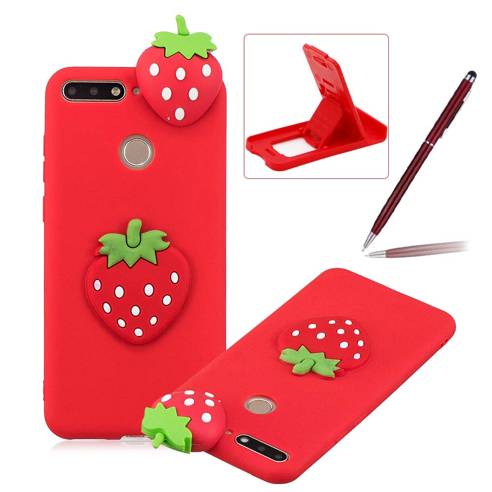 TPU Case for Huawei Honor 9 Lite, Soft Rubber Cover for Huawei Honor 9 Lite, Herzzer Ultra Slim Stylish 3D White Panda Series Design Scratch Resistant Shock Absorbing Flexible Silicone Back Case
