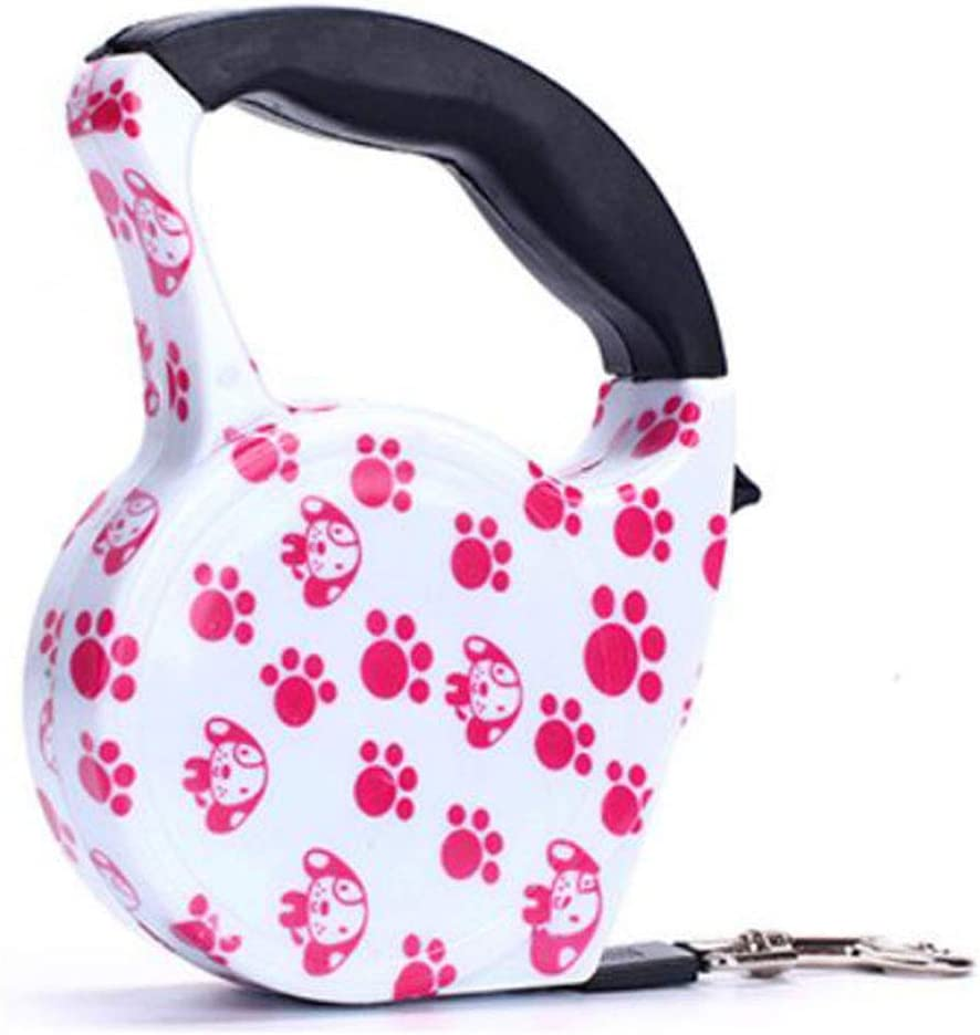 Petderland Fashionable Stylish Cute Retractable Pet Walking Leash 16ft Colorful Automatic Extendable Traction Leash for Dogs/Cats/Rabbits/Pets with Tension up to 30LBs