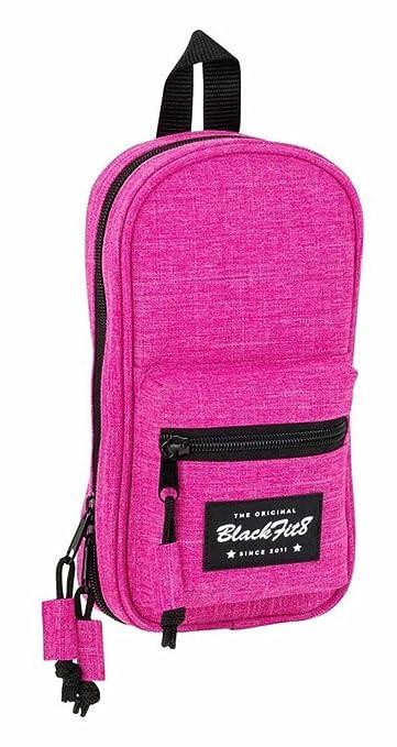 Blackfit8-Blackfit8-Plumier Mochila con 4 portatodos, Color Rosa, 23 cm (SAFTA 441732847): Amazon.es: Juguetes y juegos