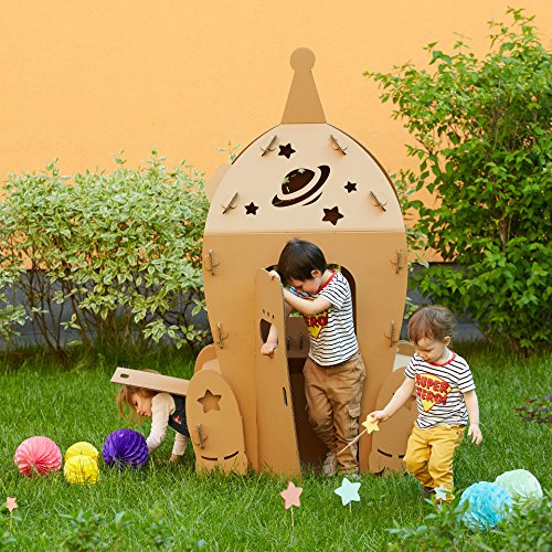 Cardboard Space Shuttle. Kids Spaceship Playhouse. Cardboard playhouse. Creative Crafts Playhouse for kids. Best Toy for Children. Eco (White Rabbit Singapore Halloween)