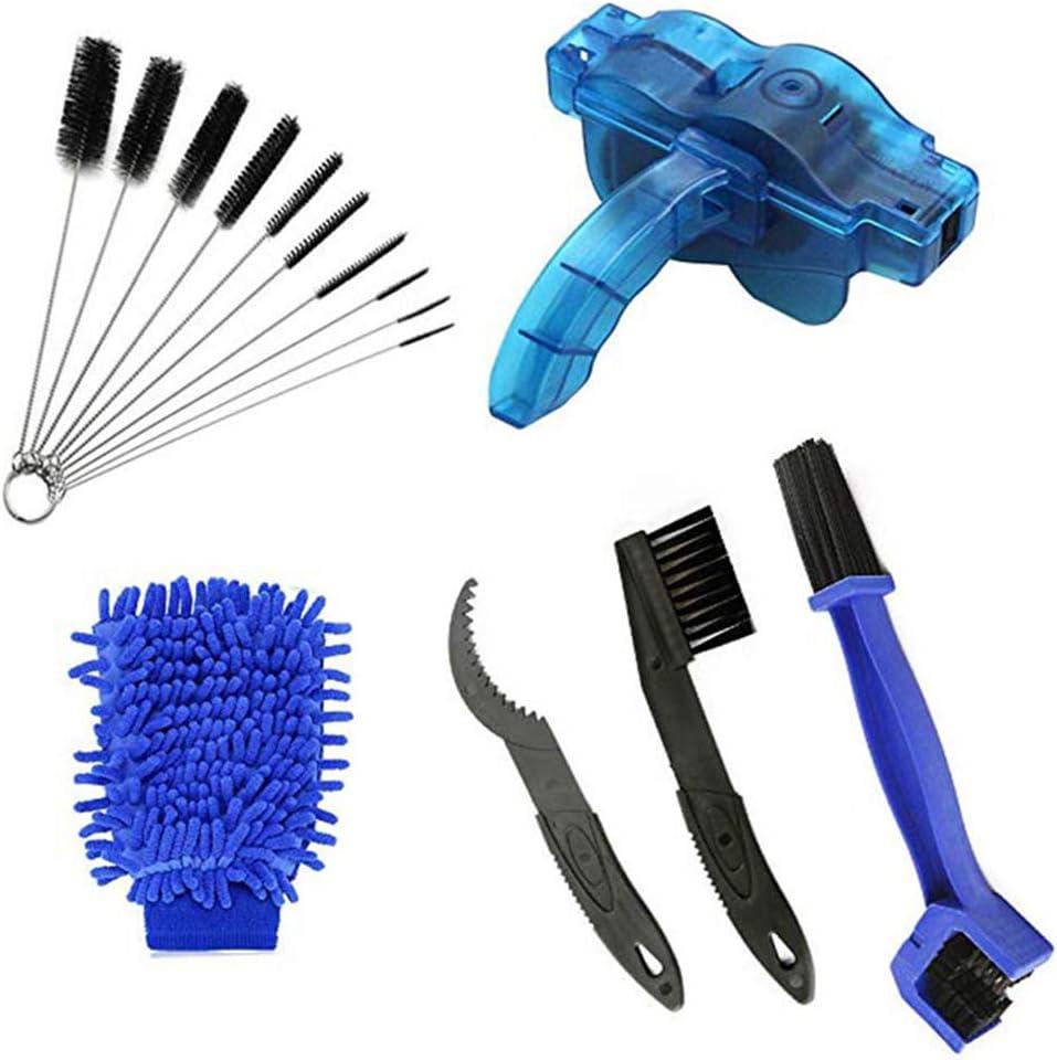 niumanery Multi-Tools Bike Chain Cleaning Brush Kit Bicycle Maintenance Washing Tool