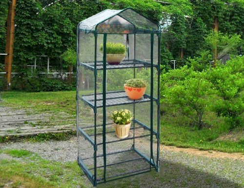 Quictent® Hot 4 tier Mini Portable Green House Indoor Outdoor w/Shelves Greenhouse Sturdy Design Birthday Xmas Gift Size 19