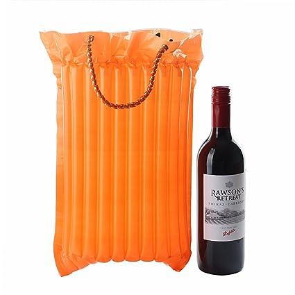 I. Valux pantalla para botella de vino bolsa de viaje columna aire ...