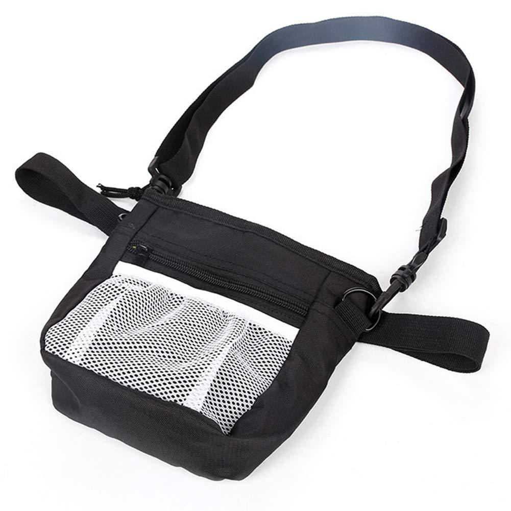 DSstyles Pet Waist Bag for Outdoor Pet Training Walking Snacks Storage Gray